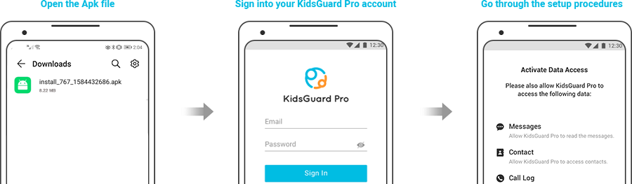 download and install kidsguard pro app