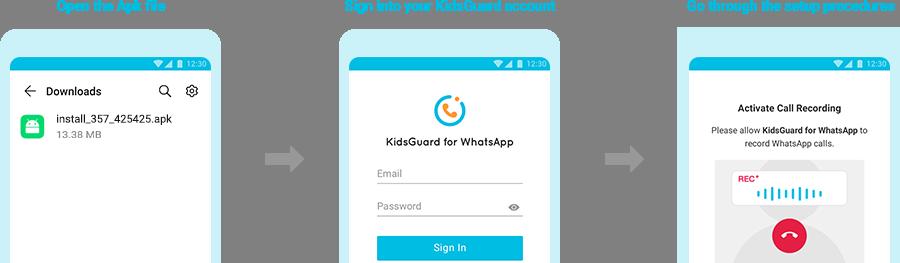 install kidsguard for whatsapp