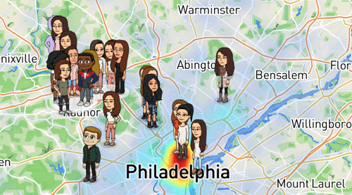 bitmoji appear on snap map