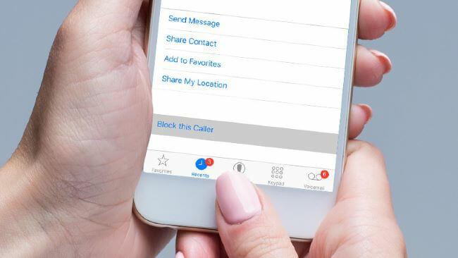 block phone call on iphone