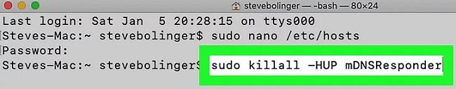 blocked on a mac