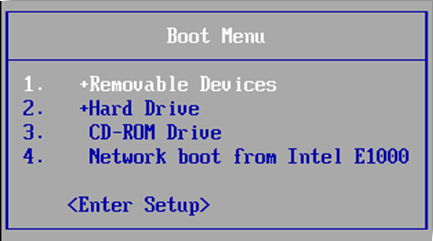change the bios boot order