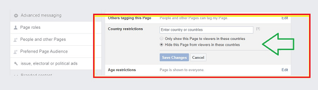change country restrictions