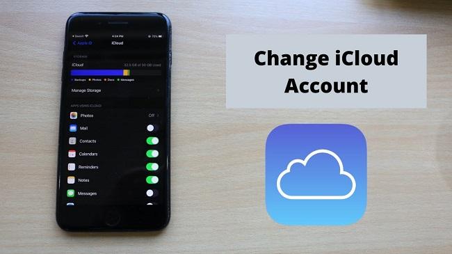 change icloud account