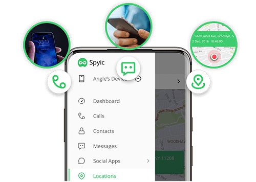 check call logs contact info spyic