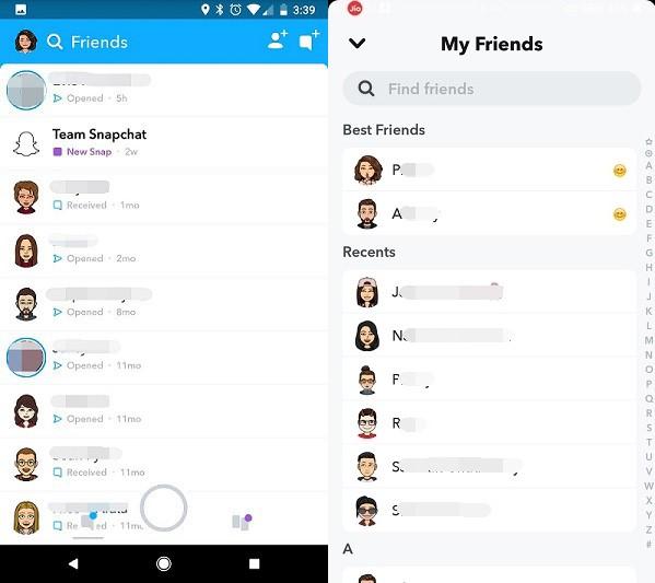 check snapchat chat history and contact list