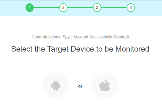 choose the type of device spyic