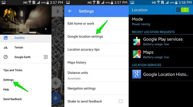 disable google location android
