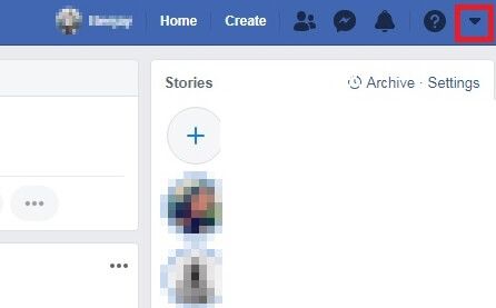 facebook drop menu