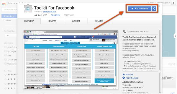 facebook extension hack