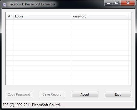 facebook password extractor