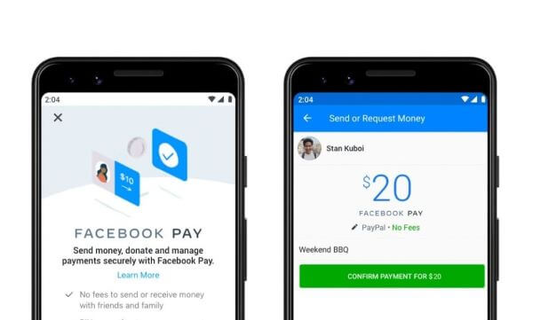 sign up facebook pay