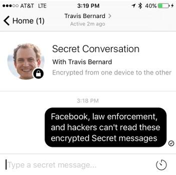 how to start a facebook secret conversation
