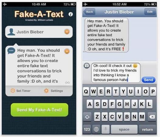 fake a text