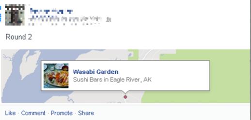 facebook location hashtag