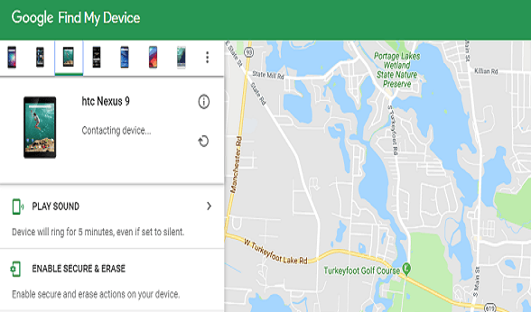 find my device tracking feature