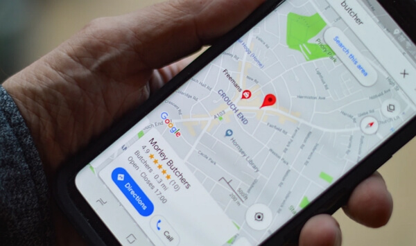 google maps app on cell phone