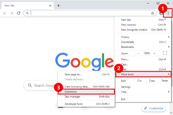 google set extension