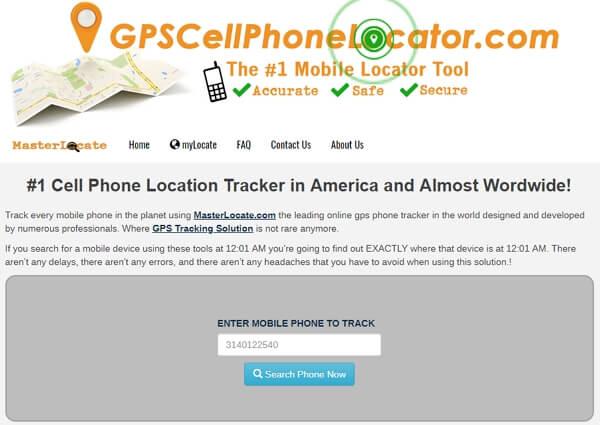 gpscellphonelocator app track phone number