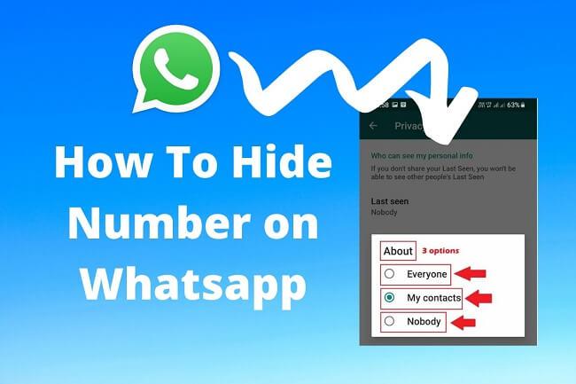 hide number on whatsapp