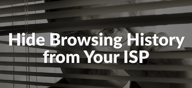 how to hide browsing history from isp