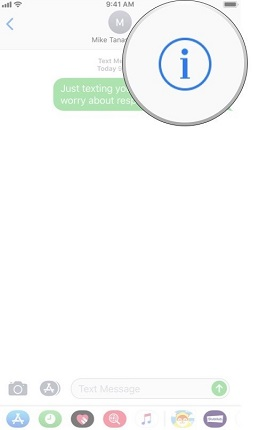open a conversation and tap the contact icon