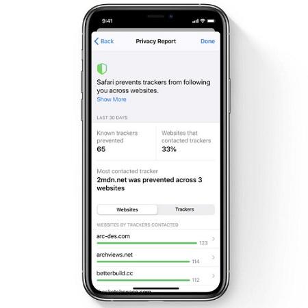 ios 14 Safari Privacy Report