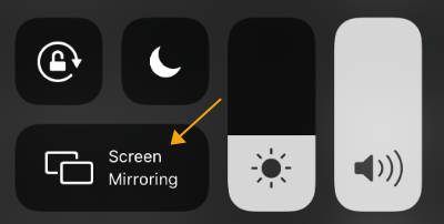 enable screen mirroring on iphone