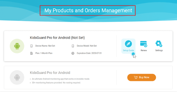 my product page
