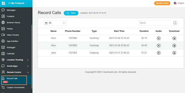 record call