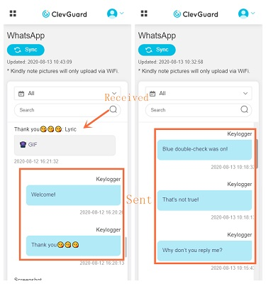 kidsguard pro whatsapp message monitoring feature