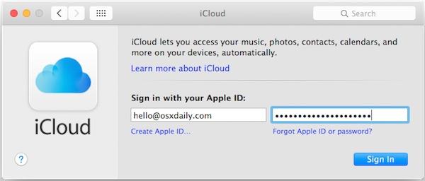 mac sign in