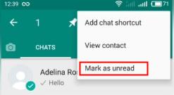 mark whatsapp message as unread
