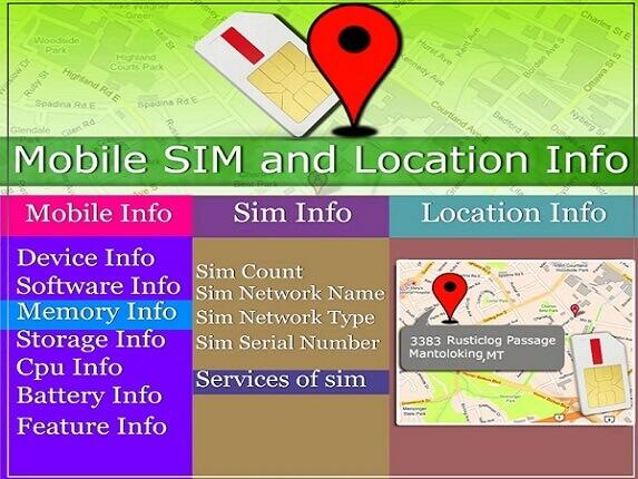 mobile, sim and location info sim tracker app