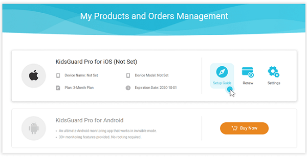 my products and orders management