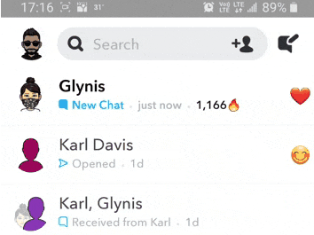 Launch the Snapchat app on your phone and swipe right to the chats page.