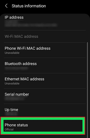 phone status