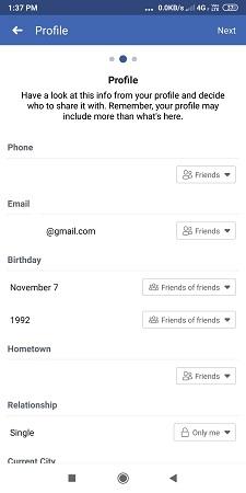 profile privacy