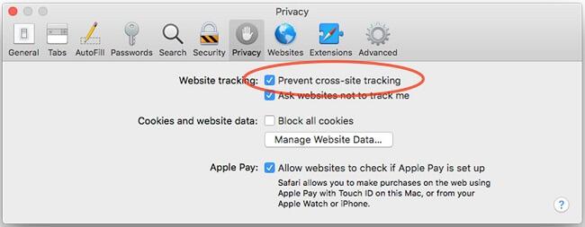 safari prevent cross site tracking