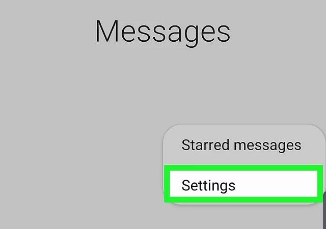 samsung message settings