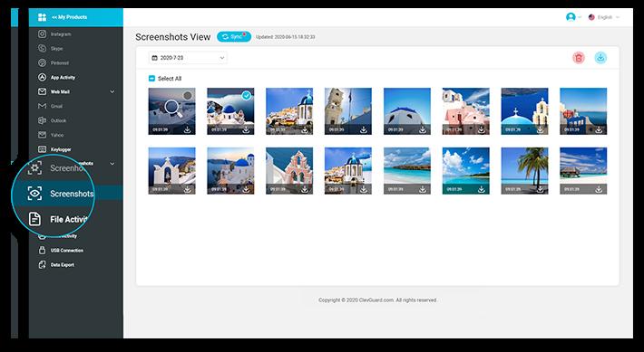 monivisor take screenshots on the desktop computer