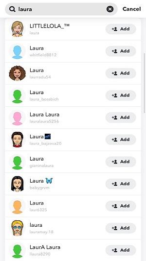 search snapchat username