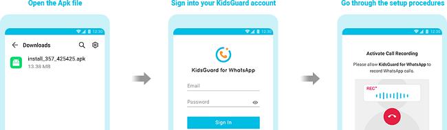 setup kidsguard for whatsapp