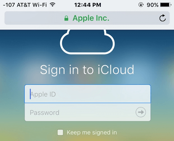 sign in to icloud