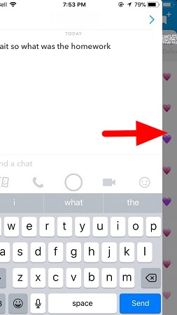 Read snapchat message without the person knowing via half open Snapchat.