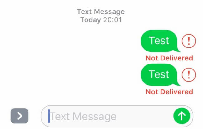sms not delivery