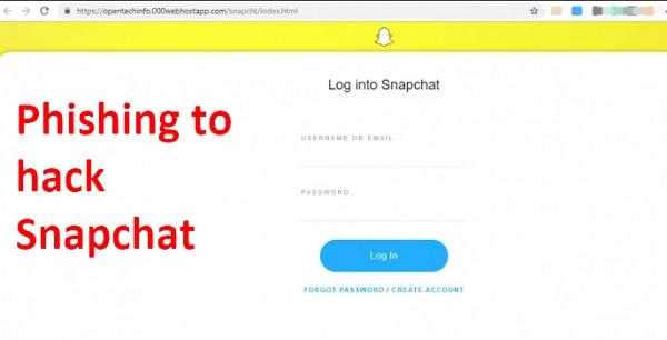 phishing to hack snapchat