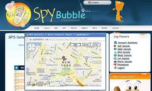 spybubble location