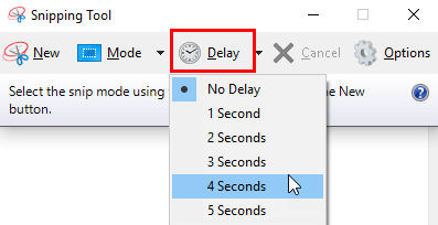 take sereenshots with snipping tool in windows