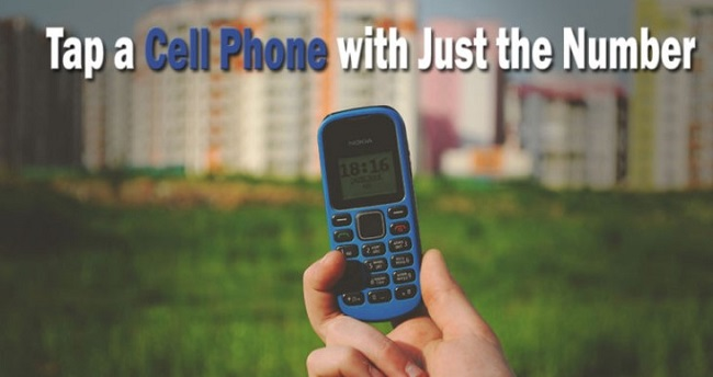 tap cell phone with number